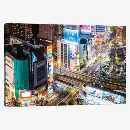 Tokyo City At Dusk, Tokyo, Japan I 3-Piece Canvas #TEO439} by Matteo Colombo Canvas Art Print