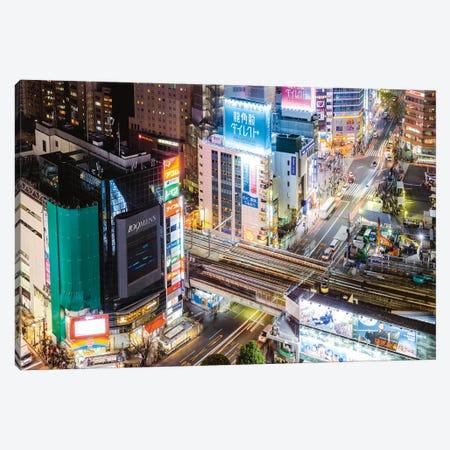 Tokyo City At Dusk, Tokyo, Japan I Canvas Print #TEO439} by Matteo Colombo Canvas Art Print