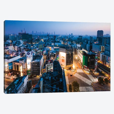 Tokyo City At Dusk, Tokyo, Japan II Canvas Print #TEO440} by Matteo Colombo Canvas Art