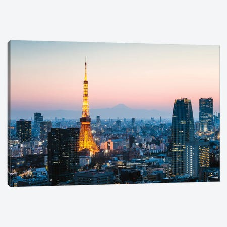 Tokyo Tower And Mt. Fuji, Japan I Canvas Print #TEO444} by Matteo Colombo Canvas Art Print