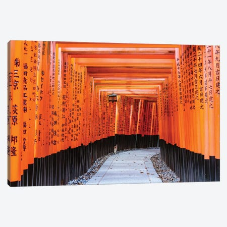 Torii Gates, Fushimi Inari Shrine, Kyoto, Japan I Canvas Print #TEO445} by Matteo Colombo Art Print