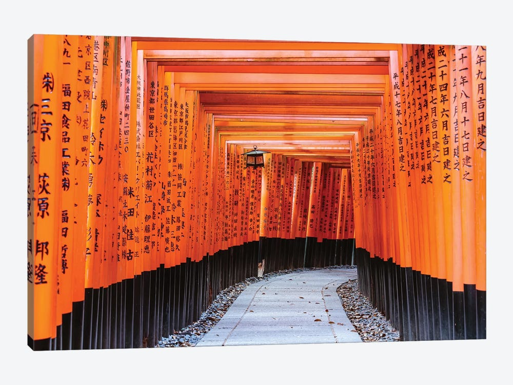 Torii Gates, Fushimi Inari Shrine, Kyoto, Japan I by Matteo Colombo 1-piece Canvas Art