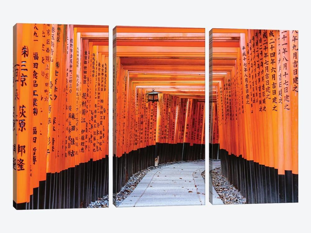 Torii Gates, Fushimi Inari Shrine, Kyoto, Japan I by Matteo Colombo 3-piece Canvas Wall Art