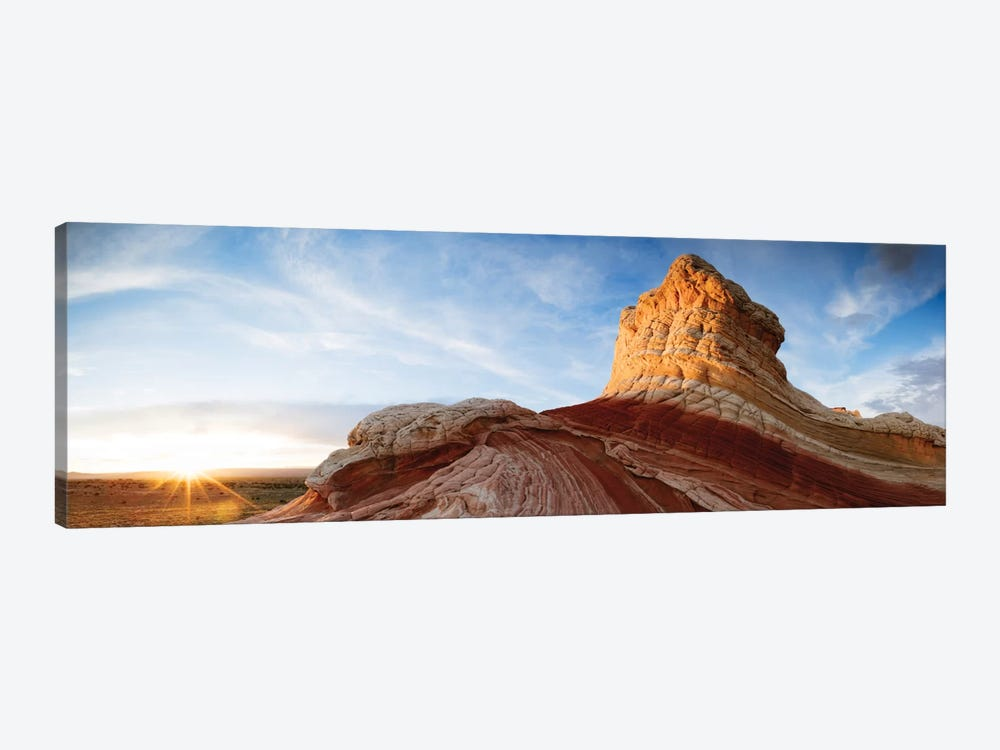 Ice Cream Knoll (Lollipop), White Pocket, Vermilion Cliffs National Monument, Arizona, USA 1-piece Canvas Wall Art