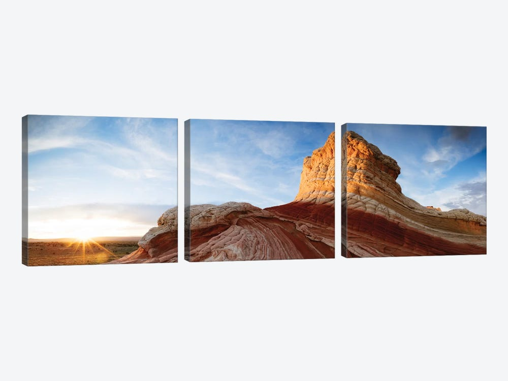 Ice Cream Knoll (Lollipop), White Pocket, Vermilion Cliffs National Monument, Arizona, USA by Matteo Colombo 3-piece Canvas Artwork