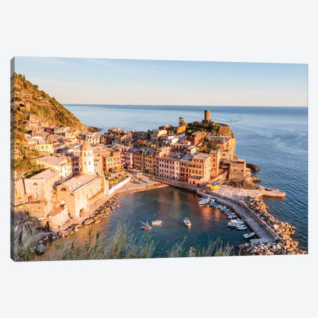 Vernazza, Cinque Terre, Italy I Canvas Print #TEO451} by Matteo Colombo Art Print
