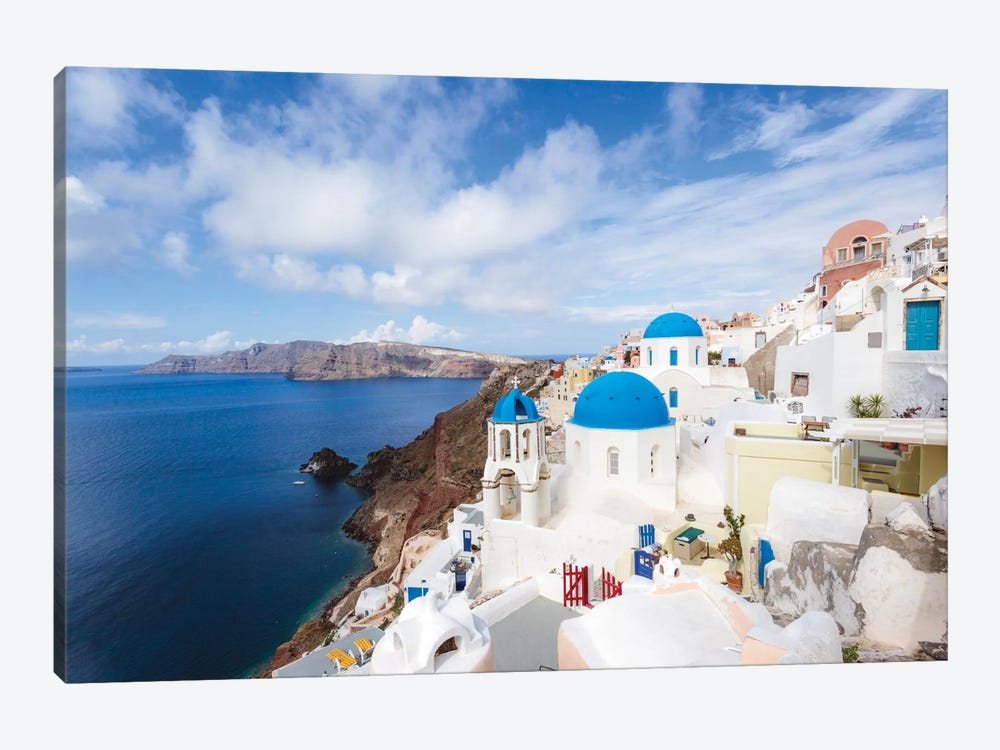 Iconic Blue Domed Churches, Oia, Santorini, Cyclades, Greece by Matteo Colombo 1-piece Art Print