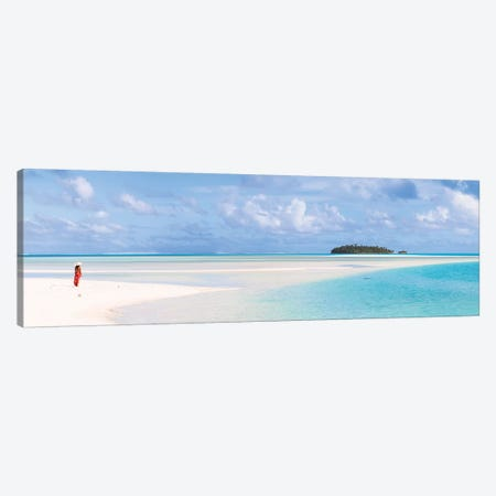 Aitutaki Panoramic, Cook Islands Canvas Print #TEO461} by Matteo Colombo Canvas Wall Art