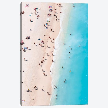 Beach Aerial, Greece I Canvas Print #TEO462} by Matteo Colombo Canvas Artwork
