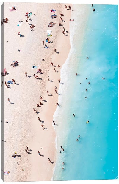 Beach Aerial, Greece I Canvas Art Print