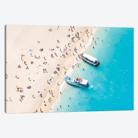 Beach Aerial, Greece II Canvas Print #TEO463} by Matteo Colombo Canvas Art