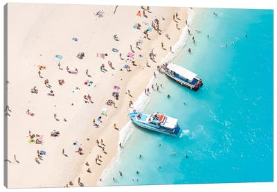 Beach Aerial, Greece II Canvas Art Print