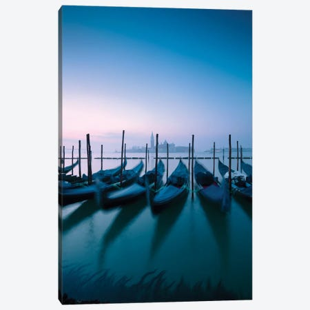 Blue Hour In Venice II Canvas Print #TEO470} by Matteo Colombo Canvas Print