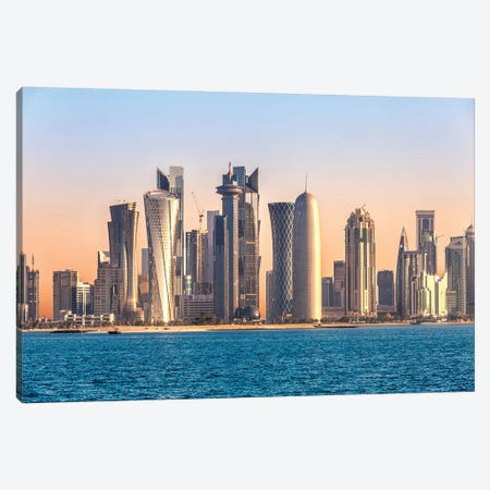 Doha Skyline, Qatar I Canvas Print #TEO478} by Matteo Colombo Art Print