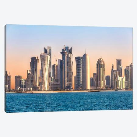 Doha Skyline, Qatar I Canvas Print #TEO478} by Matteo Colombo Art Print