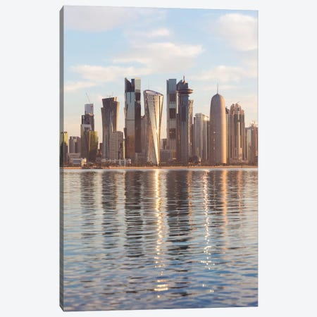 Doha Skyline, Qatar II Canvas Print #TEO479} by Matteo Colombo Canvas Print