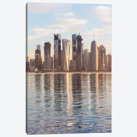 Doha Skyline, Qatar II Canvas Print #TEO479} by Matteo Colombo Canvas Print