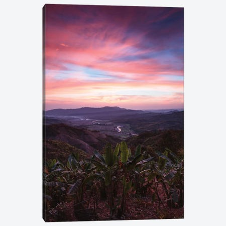 Landscape At Sunrise, Mindat, Chin State, Republic Of The Union Of Myanmar Canvas Print #TEO47} by Matteo Colombo Art Print