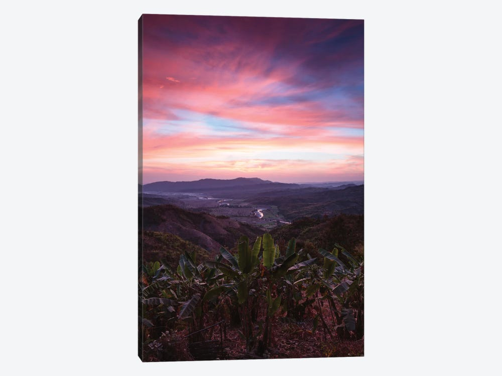 Landscape At Sunrise, Mindat, Chin State, Republic Of The Union Of Myanmar by Matteo Colombo 1-piece Art Print