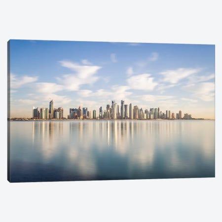 Doha Skyline, Qatar III Canvas Print #TEO480} by Matteo Colombo Canvas Art