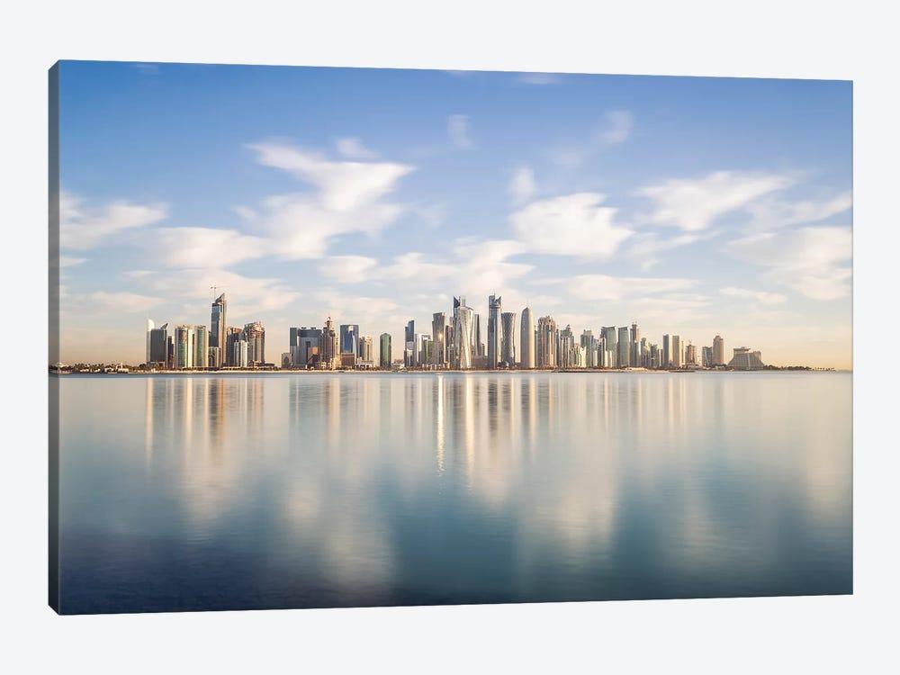 Doha Skyline, Qatar III by Matteo Colombo 1-piece Canvas Art Print