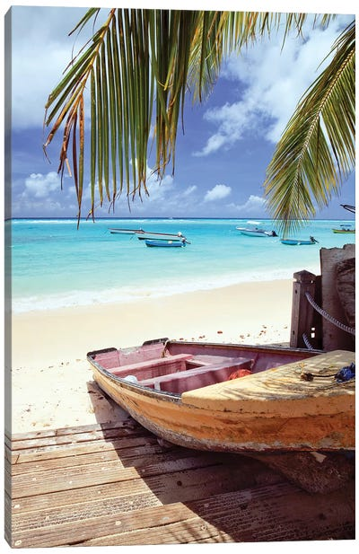 Fishing Boat In The Caribbean Canvas Art Print