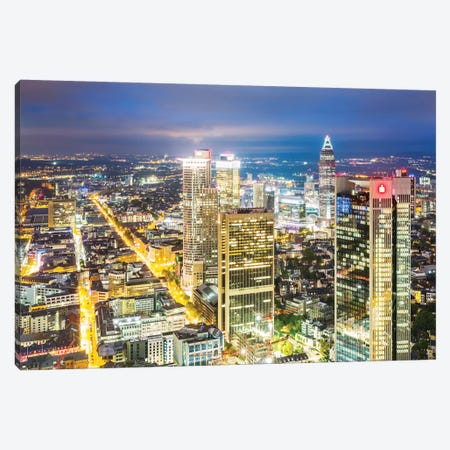 Frankfurt Skyline, Germany I Canvas Print #TEO482} by Matteo Colombo Canvas Artwork