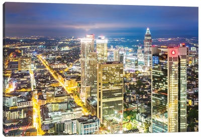 Frankfurt Skyline, Germany I Canvas Art Print