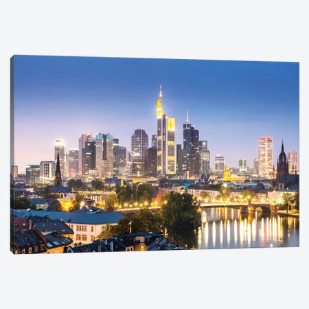 Frankfurt Skyline, Germany II Canvas Print #TEO483} by Matteo Colombo Canvas Wall Art