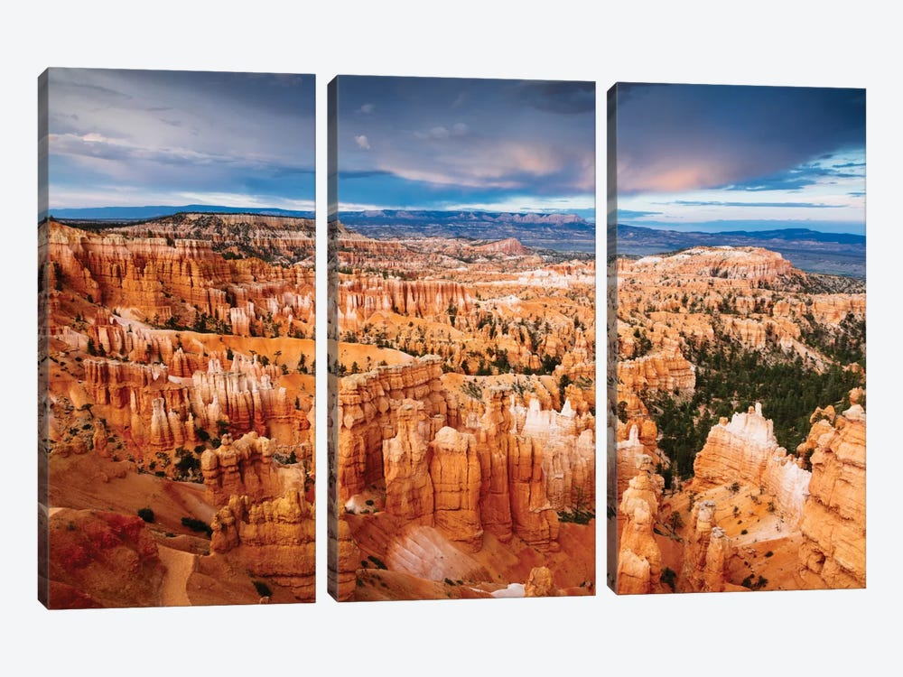 Last Light, Bryce Canyon National Park, Utah, USA by Matteo Colombo 3-piece Canvas Wall Art