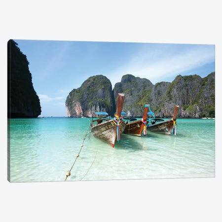 Maya Bay, Phi Phi, Thailand I Canvas Print #TEO490} by Matteo Colombo Art Print