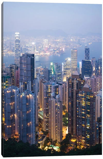 Night In Hong Kong I Canvas Art Print
