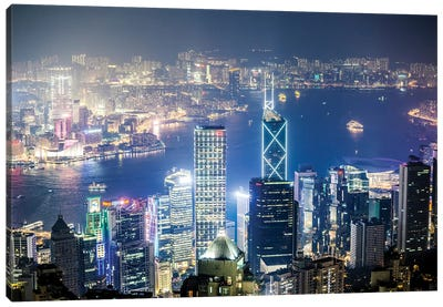 Night In Hong Kong II Canvas Art Print