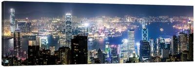Night In Hong Kong III Canvas Art Print