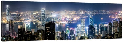 Night In Hong Kong III Canvas Art Print