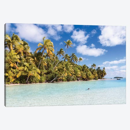 One Foot Island, Cook Islands I Canvas Print #TEO498} by Matteo Colombo Art Print