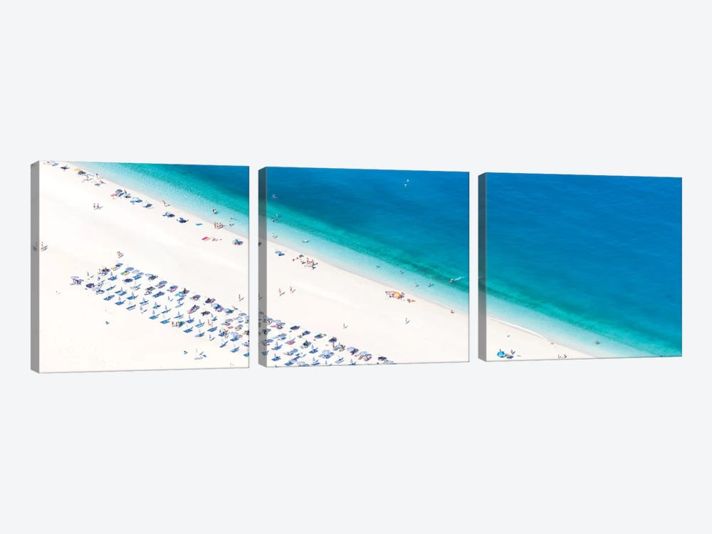 Aerial View Of Myrtos Beach II, Cephalonia, Ionian Islands, Greece by Matteo Colombo 3-piece Canvas Wall Art
