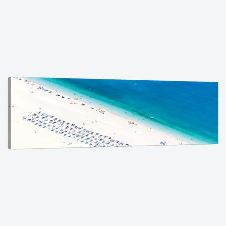 Aerial View Of Myrtos Beach II, Cephalonia, Ionian Islands, Greece Canvas Print #TEO4} by Matteo Colombo Canvas Wall Art