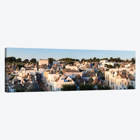 Panoramic Of Trulli Houses, Italy Canvas Print #TEO500} by Matteo Colombo Art Print