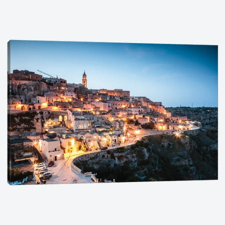 Sassi di Matera, Italy I Canvas Print #TEO505} by Matteo Colombo Canvas Art