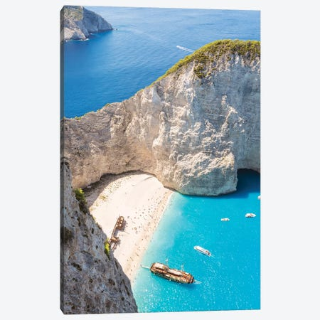 Shipwreck Beach, Zakynthos, Greece Canvas Print #TEO512} by Matteo Colombo Canvas Wall Art