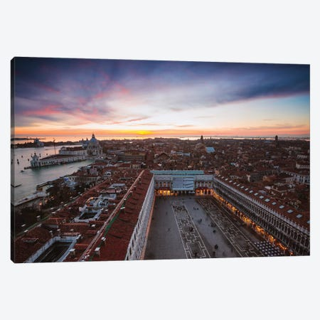 St Mark's Sunset, Venice Canvas Print #TEO513} by Matteo Colombo Canvas Artwork