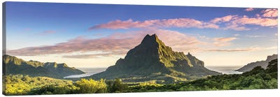 Sunrise Over Moorea, French Polynesia Canvas Art Print