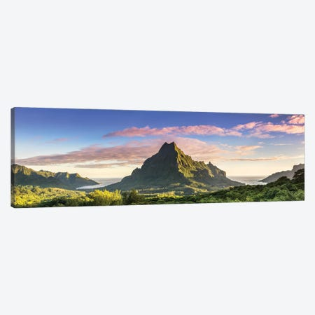 Sunrise Over Moorea, French Polynesia Canvas Print #TEO515} by Matteo Colombo Canvas Print