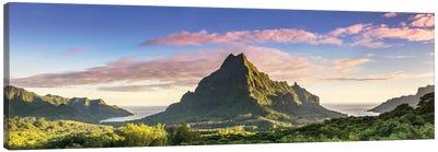 Sunrise Over Moorea, French Polynesia Canvas Art Print