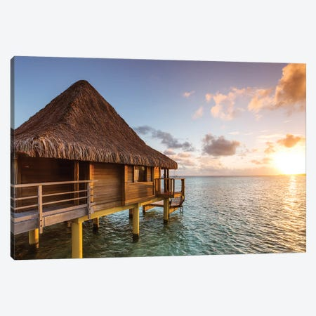 Sunset In The Tropics, Bora Bora Canvas Print #TEO516} by Matteo Colombo Canvas Art Print