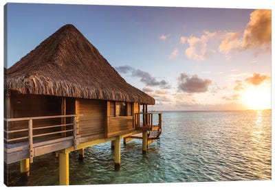 Sunset In The Tropics, Bora Bora Canvas Art Print
