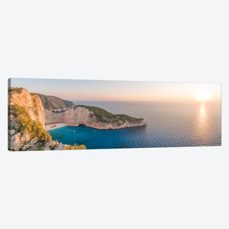 Sunset Over Zakynthos, Greece 3-Piece Canvas #TEO517} by Matteo Colombo Art Print