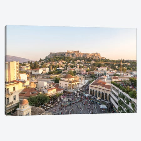 The Acropolis At Sunset, Athens, Greece Canvas Print #TEO518} by Matteo Colombo Canvas Artwork