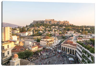 The Acropolis At Sunset, Athens, Greece Canvas Art Print